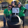 Bowdoin Green Athletics and Sustainable Bowdoin work together to compost waste from Bowdoin's Homecoming football game