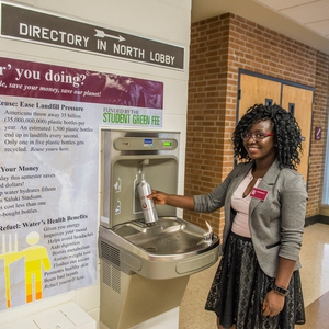 Southern Illinois University water bottle fill stations