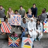 Young Asylum seekers, refugees and migrants who were involved in the 'Arriving into View' project at UCC's Glucksman Gallery, a project organised as part of the University of Sanctuary initiative.