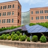 Photovoltaic array outside Peacock Hall at Appalachian State University