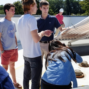 Tour of Residence Hall Rooftop Solar