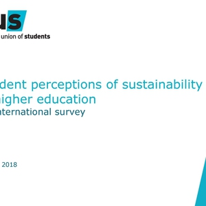 Student perceptions of sustainability in higher education - An international survey