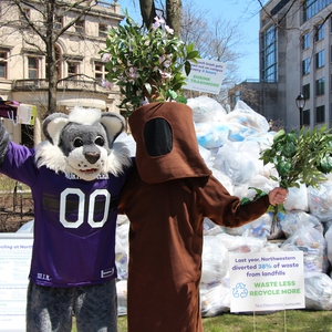 Northwestern Promotes Recycling during Earth Month