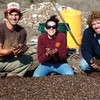 Bobcat Blend students showing off finished compost