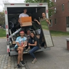 Bowdoin College EcoReps help collect unwanted goods for reuse during Move Out.