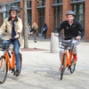 Wesleyan students enjoy the new Wesleyan bikeshare program with Spin