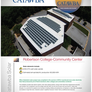 Project Green Step 2030: Catawba College Campus Solar Energy Installation