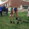 President Roelofs addresses volunteers at Tree Planting ceremony