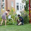 Muhlenberg college students working in permaculture garden