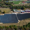 Solar field and rooftop installations at the David Ames Clock Farm at Stonehill College