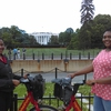 Aliyah Davis and Angelica Oliver with DC Bikeshare Bikes at the White House Climate Leadership Summit