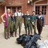 "Volunteers at the ""We All Live Here"" campus clean-up day"