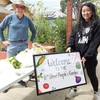 CoFounder, Steve, and Lee Lor, Board of Supervisors at the Pop-Up People's Pantry