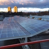 Solar Canopy from Above (During Construction)