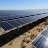 The extensive collection of solar panels that comprise the 67 MW Stanford Solar Generating Station