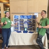 UVM Eco-Reps tabling during Earth Week. They quizzed students on Jeopardy questions and gave out reusable sandwich bags.