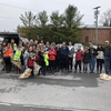 35+ people ready to start the 2019 Chittenango Creek Clean-Up