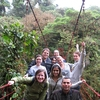 Faculty and students on sustainability course in Costa Rica