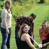 Niagara College students participating in the World Water Monitoring Challenge, and event run by students to monitor water quality throughout campus