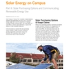 Solar Energy on Campus Part II
