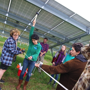 Solar Photovoltaic Arrays at Hampshire College generating up to 100% of electricity on site