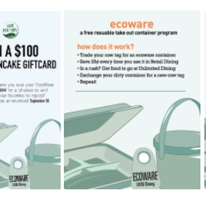 "University of Vermont Eco-Reps ""EcoWare, Everywhere!"" Campaign"