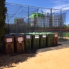 Compost and Recycling Bins for Collection
