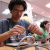 Many students learned new technology in the NCSU Libraries' Makerspace during the Make-a-thon competition.