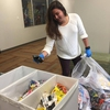 Student volunteer sorting Terracycle Waste
