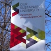Sustainability Awareness Banners displayed across campus