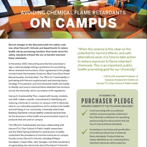 Avoiding Chemical Flame Retardants on Campus