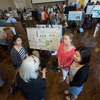 Earth Week Expo - Students in the global sustainability class held a research project poster competition to showcase innovative ideas to improve Grounds.