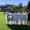 Colorado College Office of Sustainability Interns proudly display the culmination of many of their efforts.  The college achieved the milestone of carbon neturality on January 1, 2020.