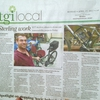 Solar-Powered Electric Bicycle Newspaper Article