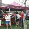 Earth Day attendees were asked to visit three booths run by student groups to receive stamps on their index cards for free pizza.
