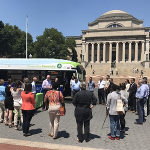 Columbia University transitions to electric intercampus buses to reduce emissions by 70%