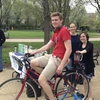 Students and Sustainability Ambassadors make pedal-powered smoothies to celebrate Earth Day at CWRU!