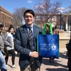 Creighton Students Union President supporting Earth Day