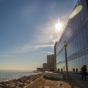 Loyola's Lake Shore Campus on the shores of Lake Michigan