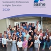 Staffing Survey Report Cover - Over 40 higher education sustainability professionals gathered at the Pendle Hill Retreat Center near Philadelphia, Pennsylvania to participate in AASHE's 2017 Sustainability Professionals Retreat.