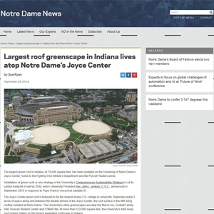 Do, Learn, Do: Expanding Green Roof Infrastructure at Notre Dame