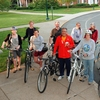 Faculty, staff and student participants with bikes