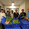 The first delivery of Campus Farm produce to MDining