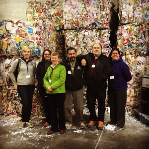 RRC Staff at the tour of our Recycling Hauler's facility