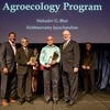 Dr. Mahadev Bhant and Dr. Krishnawamy Jayachandran receive the Presidential Excellence Award at the 2016 FIU Service & Recognition Awards Ceremony for their work with the FIU Agroecology Program.