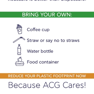 """#ACGGoesPlasticFree Campaign: ACG Cares for a plastic-free future!"""