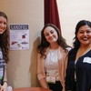 UW-Madison Office of Sustainability interns Anna Weinberg, Ally Burg, and Noemy Serrano monitor a zero waste station during the Nelson Institute for Environmental Studies Earth Day Conference at Monona Terrace in Madison, WI.