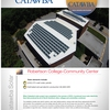 Solar panels on Robertson College-Community Center, Catawba College