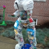 Ceation of recycled plastic sculptures by student: Picture 3