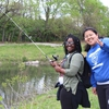 University of Dayton celebrates EarthDay with fishing at the River Campus, bringing its urban campus to the Great Miami River